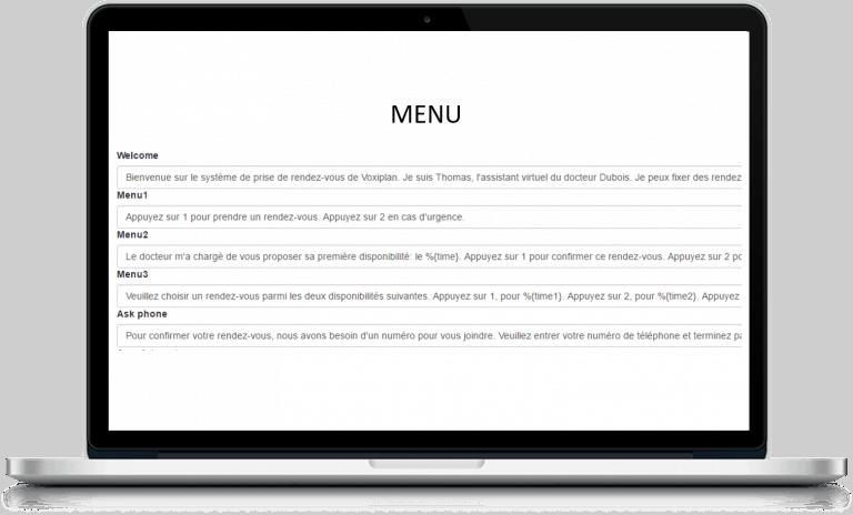 personnaliser votre menu